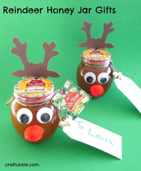 Reindeer Honey Jar Gifts - the perfect festive gift for gourmet home cooks!