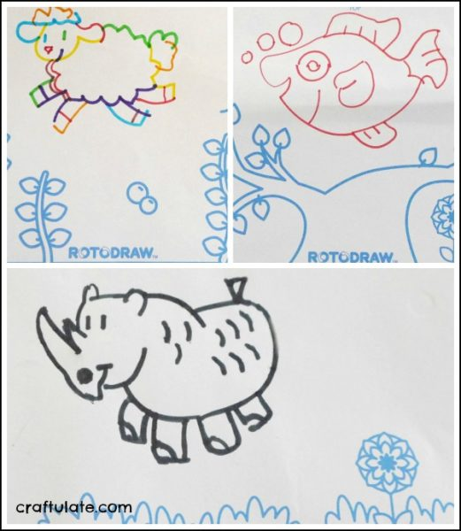 Introducing Rotodraw - a fun drawing tool for kids with a surprise end result!