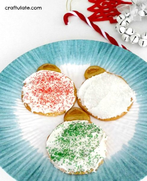 Ornament Cookies - just four ingredients - and get the kids to help decorate them!