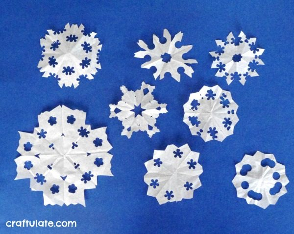 Paper Punch Snowflakes - a winter craft for kids to make