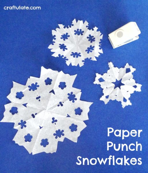 Paper Punch Snowflakes Craftulate