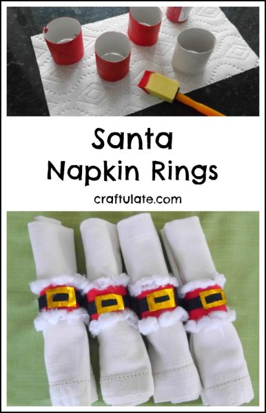 Santa Napkin Rings - a cute Christmas craft for kids to make