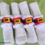 Santa Napkin Rings