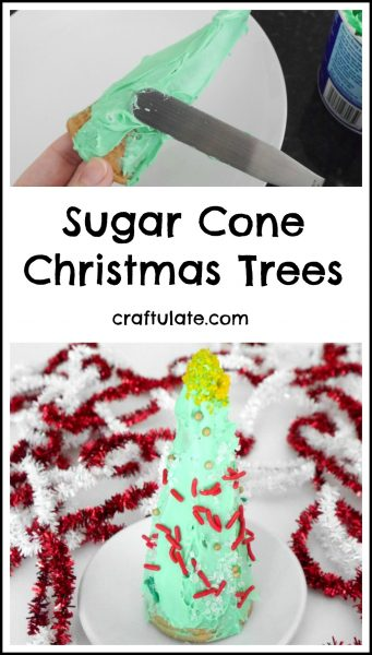 Sugar Cone Christmas Trees - a fun treat for the kids to decorate!