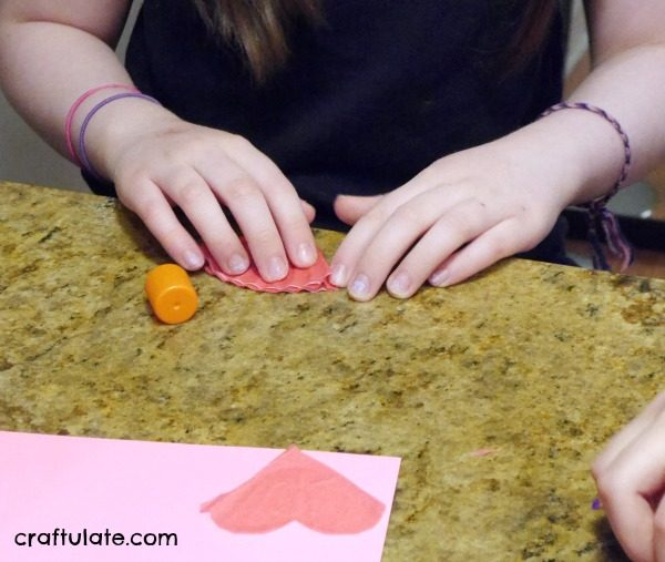 Cupcake Liner Hearts - a fun craft for kids for Valentine's Day!