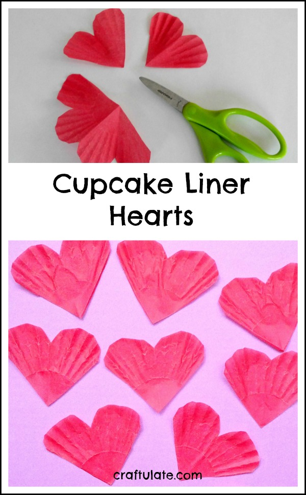 Cupcake Liner Hearts - an easy kids craft for Valentine's Day!