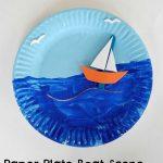 Paper Plate Boat Scene