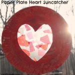 Paper Plate Heart Suncatcher