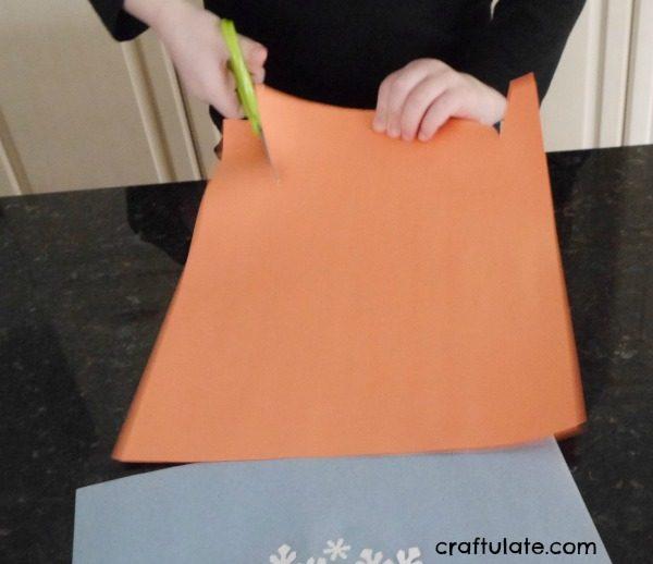 Paper Punch Snowman - a winter craft for kids
