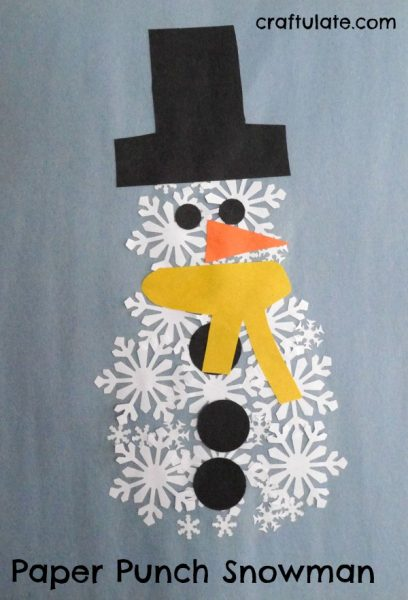 Paper punch snowman craftulate for What does punch out mean in construction