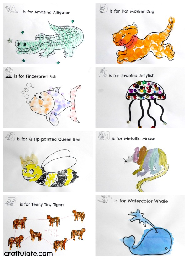 Animal ABC Art Book - kids will love this fun art activity!