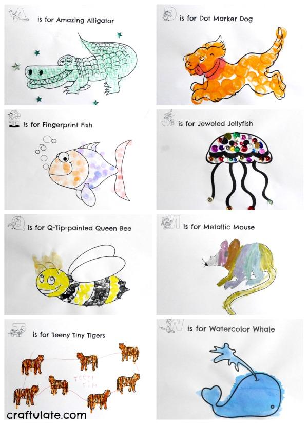 Animal ABC Art Book - kids will love this fun art activity!