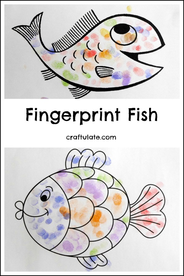 Fingerprint Fish - a fun art project for kids