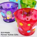 Kid-Made Flower Votive Gifts