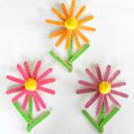 Glittery Craft Stick Flowers