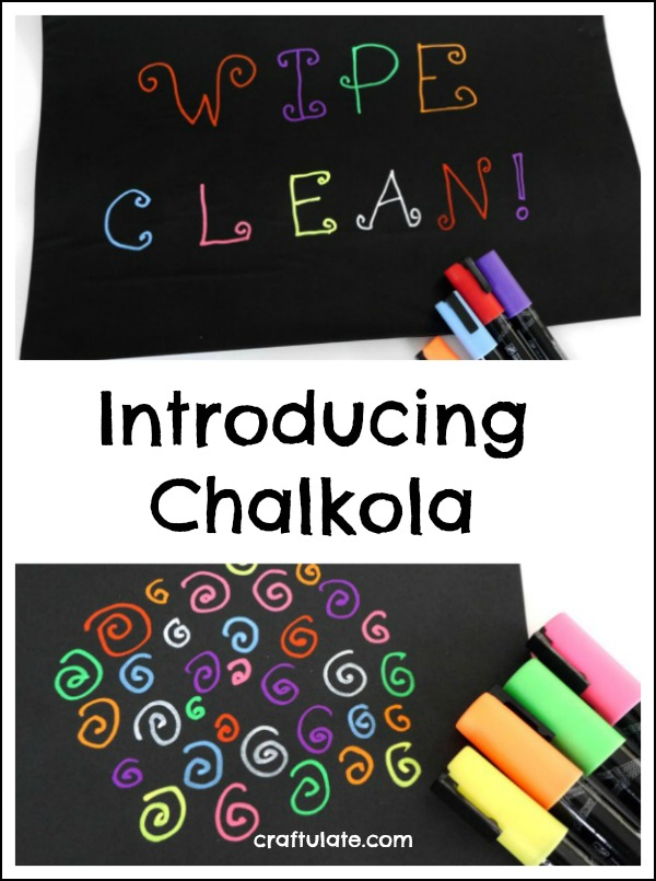 Introducing Chalkola - child-safe washable chalk pens