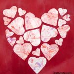 Marbled Heart Collage