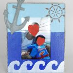 Decorated Boat Photo Frame