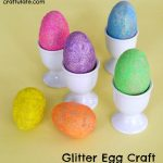 Glitter Egg Craft