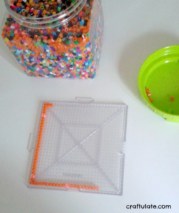 Perler Bead Frames - a kids craft that makes a wonderful gift