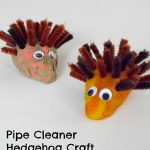 Pipe Cleaner Hedgehog Craft