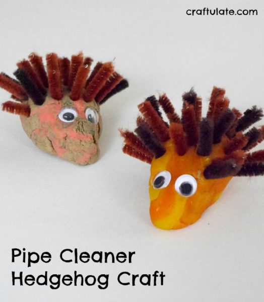 Pipe Cleaner Hedgehog Craft Craftulate