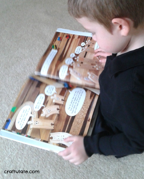 Wooden Train Track Dominoes - for fine motor practice, developing engineering skills, and FUN!