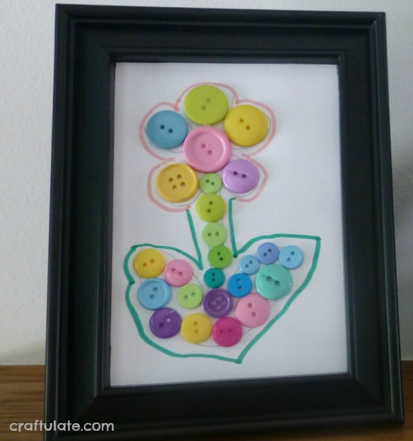 Button Flower Collage