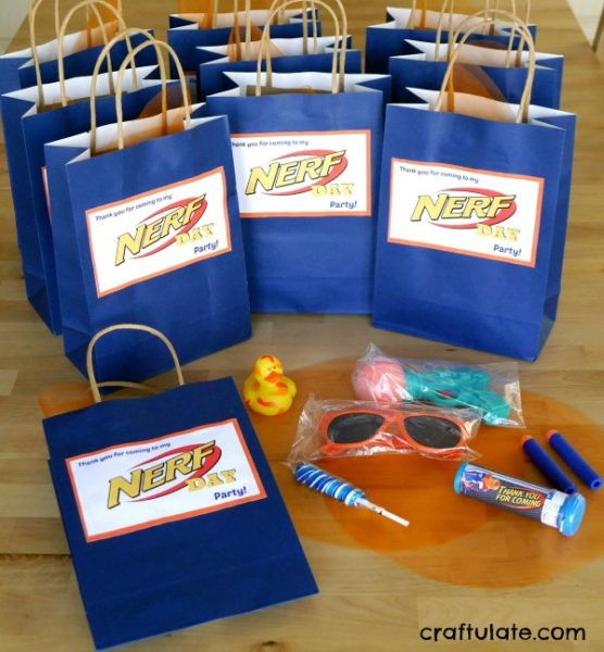 Nerf Gun Party Table Decorations