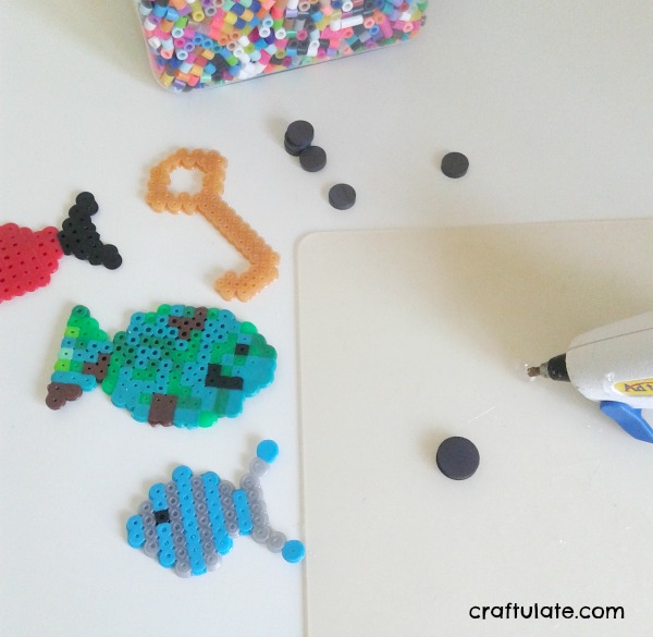 Perler Bead Fishing Game - a fun homemade toy for kids to make!