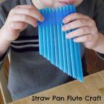 Straw Pan Flute Craft