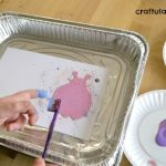 Toothbrush Splatter Painting
