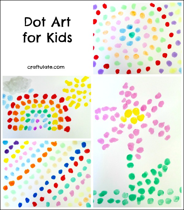Dot Art for Kids - using Kwik Stix paint