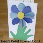 Heart Petal Flower Card