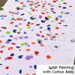 Splat Painting with Cotton Balls
