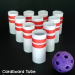 Cardboard Tube Bowling Game