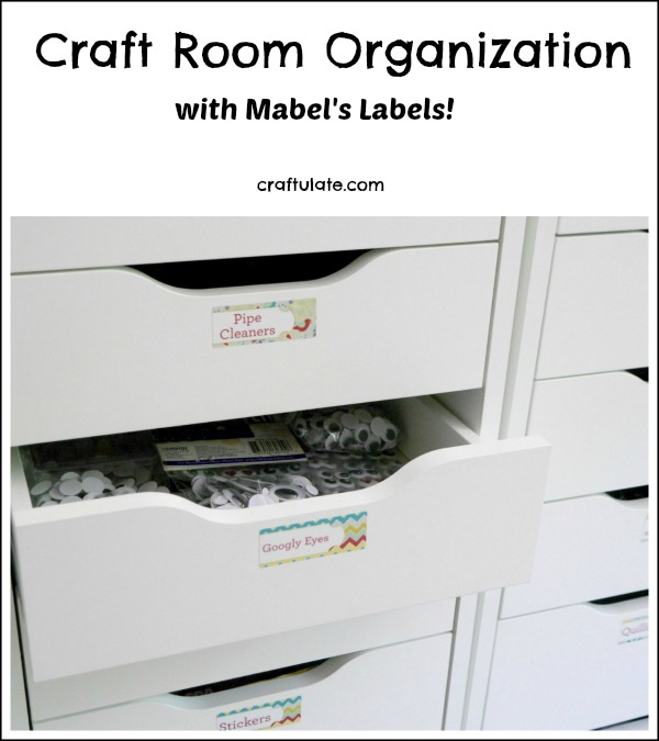Craft Room Organization - with Mabel's Labels!