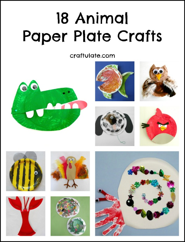 18 Animal Paper Plate Crafts - kids will love these!