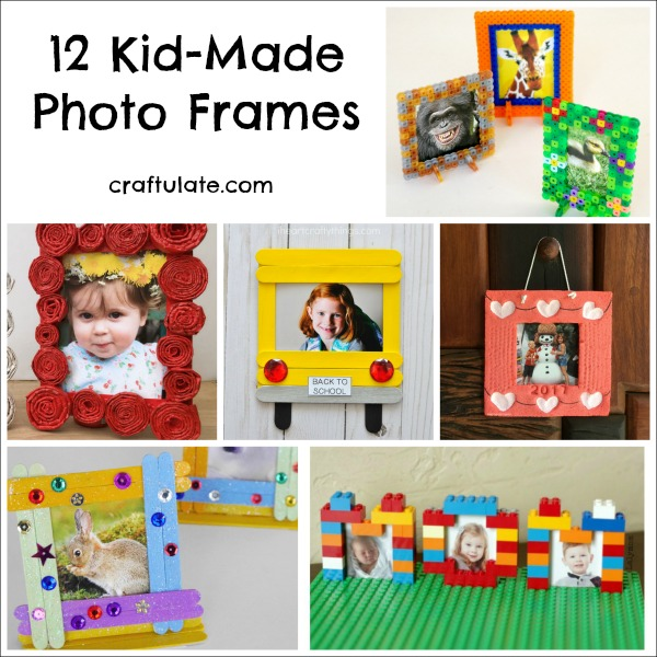 12 Kid-Made Photo Frames - great for giving as gifts!