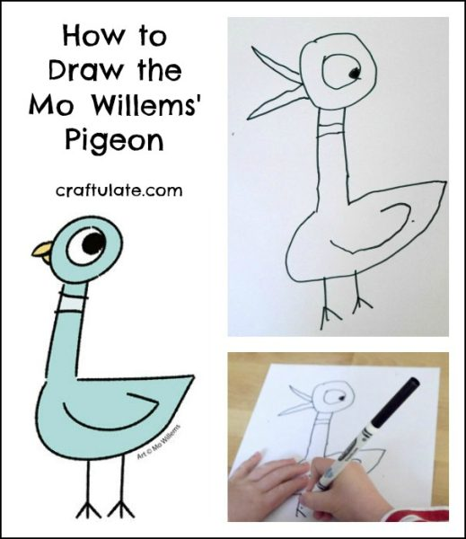 How To Draw The Mo Willems Pigeon Craftulate