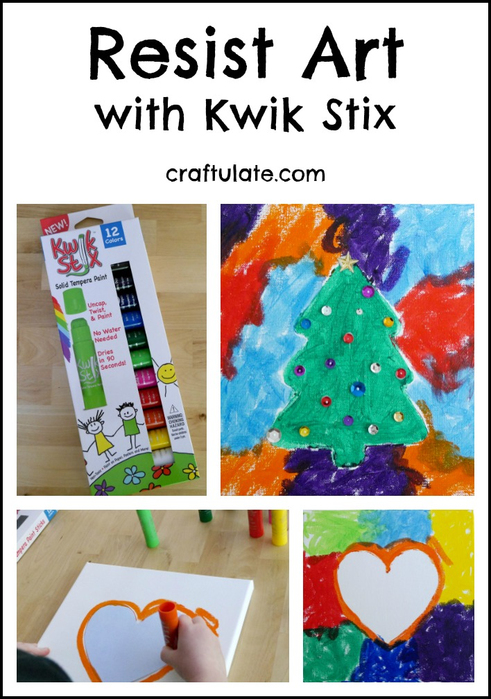 Resist Art with Kwik Stix - mess free painting for kids!