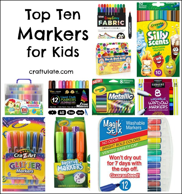 Top Ten Markers for Kids - great gift ideas to help children get creative!