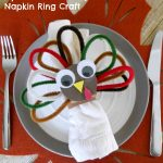 Pipe Cleaner Turkey Napkin Ring Craft