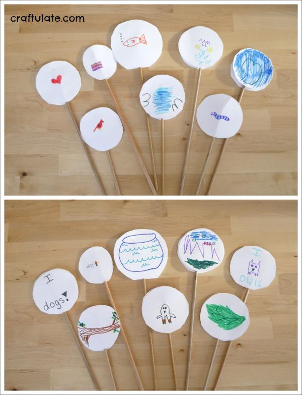 Thaumatropes for Kids - a fun old-fashioned craft!