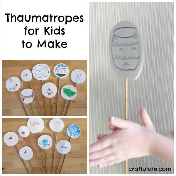 Thaumatropes for Kids to Make - a fun old-fashioned craft!