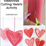 Valentines Cutting Hearts Activity
