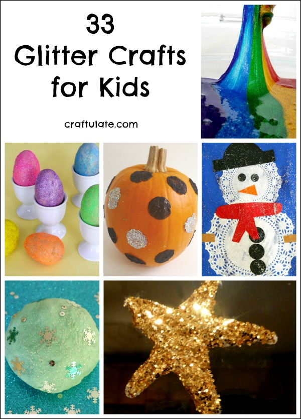 33 Glitter Crafts for Kids