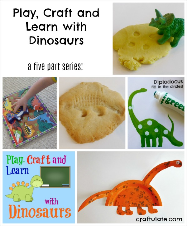 Play, Craft and Learn with Dinosaurs - a five part series for kids