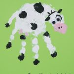 Cow Handprint Art
