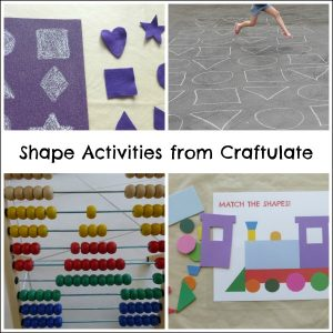 Shape Activities from Craftulate